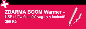 ZDARMA BOOM Warmer - USB ohřívač umělé vagíny v hodnotě 299 Kč